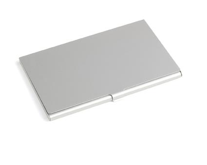 Aluminium kaarthouder zilver