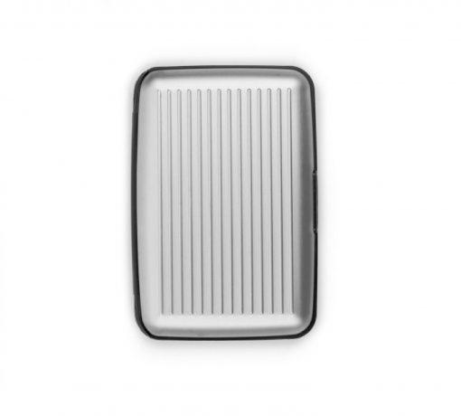 Aluminium kaarthouder groot zilver