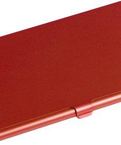 Aluminium kaarthouder rood