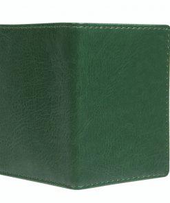 Mapje voor pasjes donker groen buitenzijde