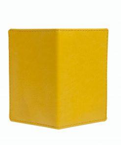 Mapje voor pasjes geel buitenzijde