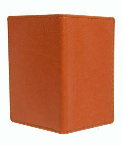 Mapje voor pasjes oranje buitenzijde