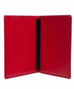 Mapje voor pasjes rood binnenzijde