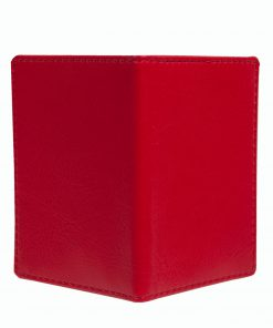 Mapje voor pasjes rood buitenzijde