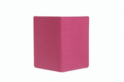 Mapje voor pasjes roze buitenzijde