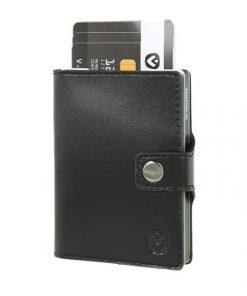Valenta Wallet Case Zwart-Zilver
